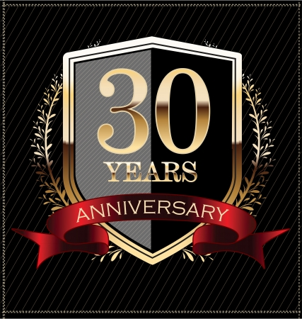 30 years: Anniversary golden label