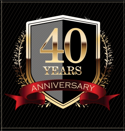 aniversario: Sello de oro del aniversario