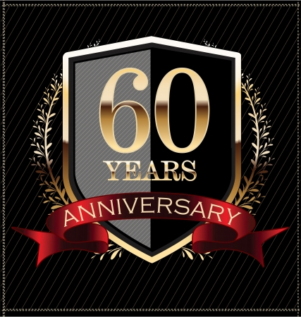 60th: Anniversary golden label