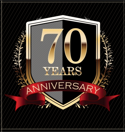 anniversary party: Anniversary golden label