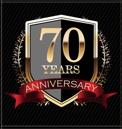 70: Anniversary golden label