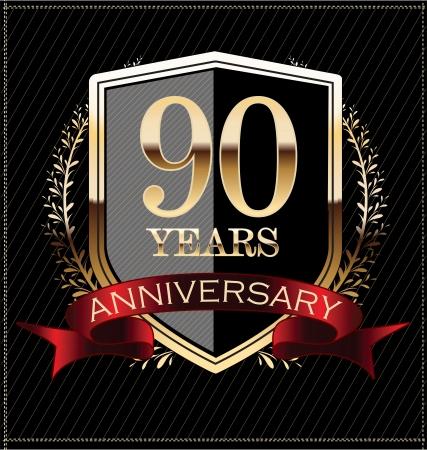 90: Anniversary golden label