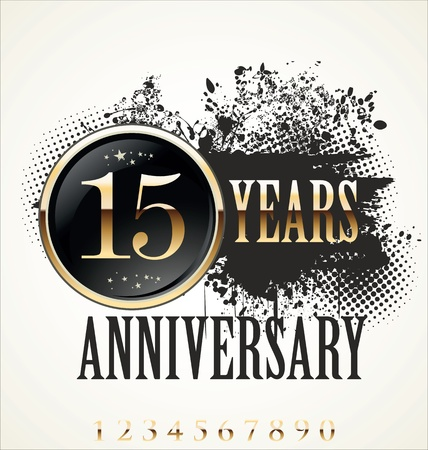 10 years: Anniversary label