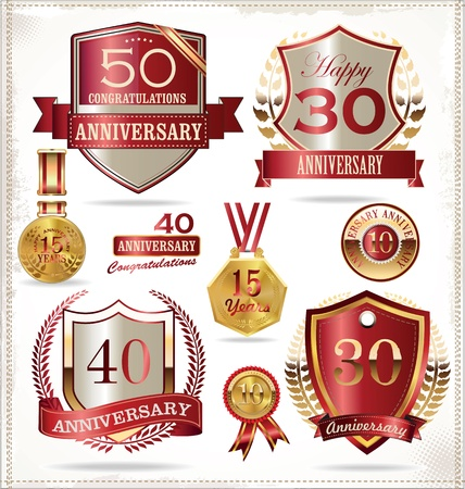 anniversary celebration: Anniversary labels