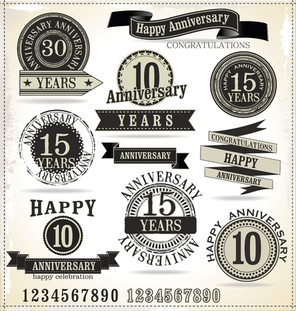 love stamp: Anniversary labels