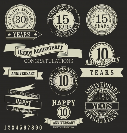 70 years: Anniversary labels