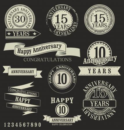 10 years anniversary: Anniversary labels