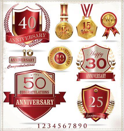 sport celebration: Anniversary labels