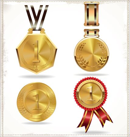 Gold medal set Stock Vector - 19511060