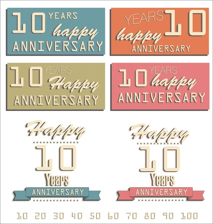 60 70: Anniversary retro labels