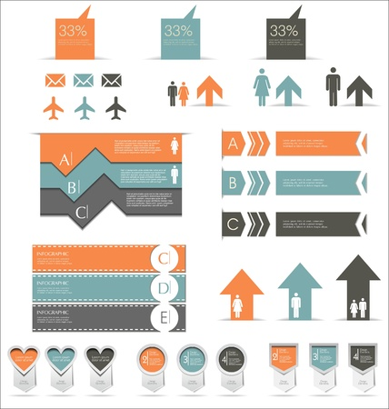 demographics: Infographics set