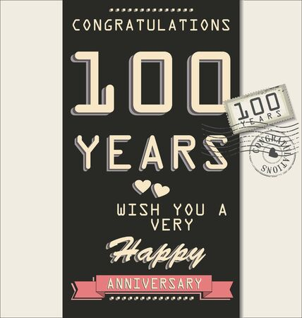 Template of anniversary, jubilee or birthday card retro style Stock Vector - 19511001