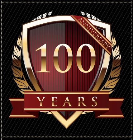 100 years anniversary golden label Stock Vector - 19511022