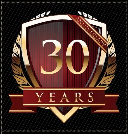 30 years anniversary golden label Stock Vector - 19511029