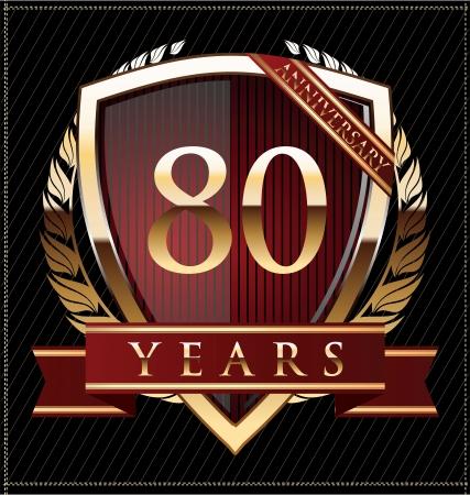 80 years: 80 years anniversary golden label