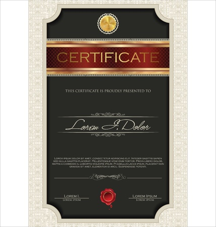 coupon template: Certificate template Illustration