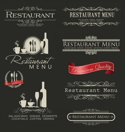 coffe tree: Retro vintage style restaurant menu designs Illustration
