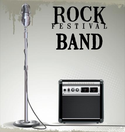 Rock festival background Vector