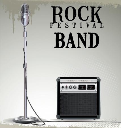 stage performer: Rock festival background