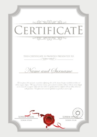 swirl border: Certificate template Illustration