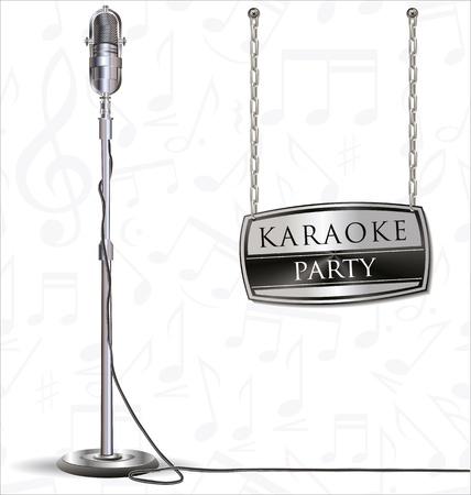 karaoke party background Stock Vector - 19566143