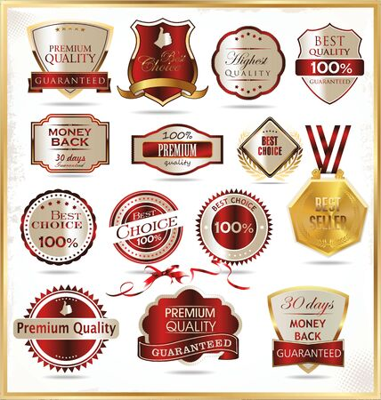 Quality golden labels Vector
