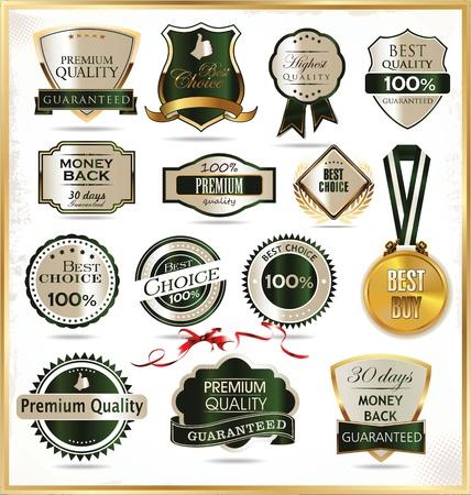 Kwaliteit golden etiketten Vector Illustratie
