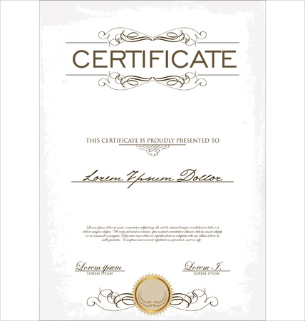 Certificate template Stock Vector - 19566279