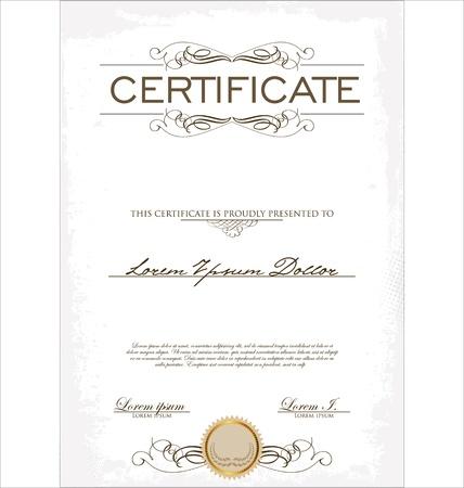 stock certificate: Plantilla de certificado Vectores