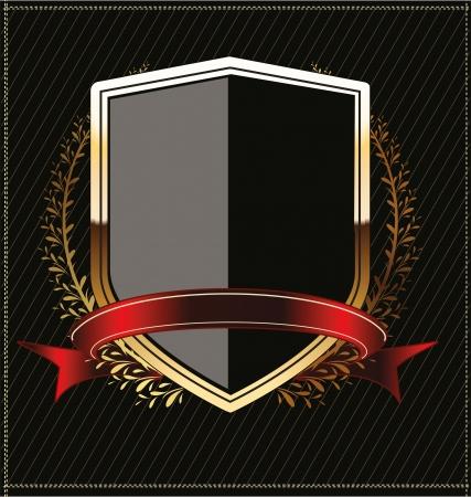 crests: Scudi d'oro con corona di alloro