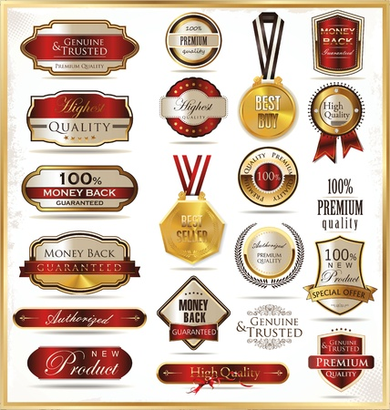 premium: Luxury golden shields Illustration