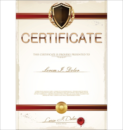 Certificate template Stock Vector - 19566346