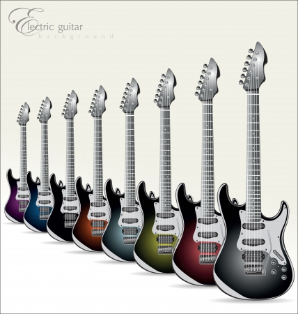 fretboard: Electric guitar background