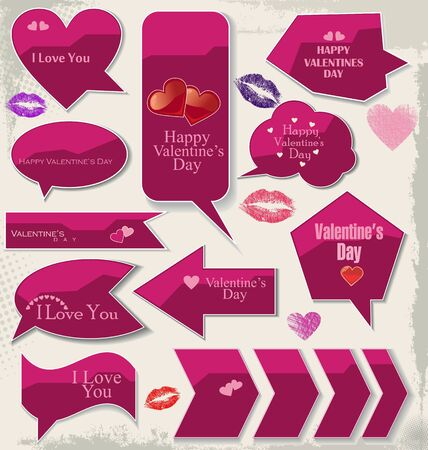 Love bubbles and labels modern design Vector