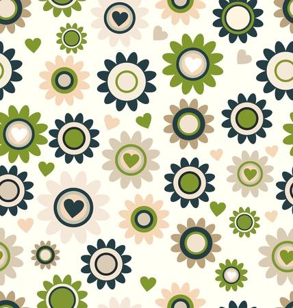 texture fantasy: Cute floral seamless background retro color