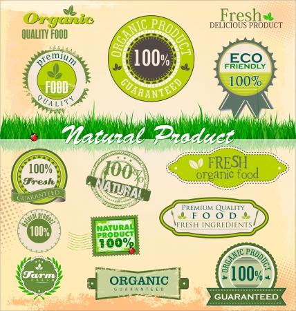 org�nico: Insignias y etiquetas de org?nicos y eco