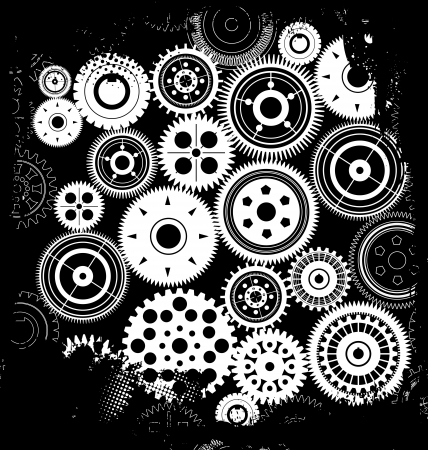 Grunge gear background Vector