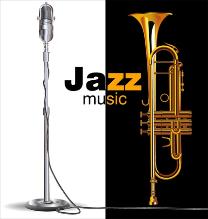 Manifesto concerto jazz Vettoriali