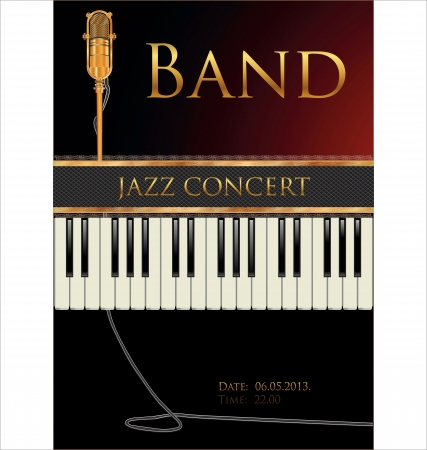loud music: Jazz concert poster