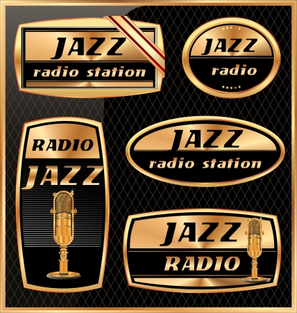Jazz radio labels Vector