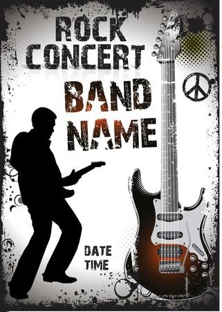 rock star: Rock concert poster