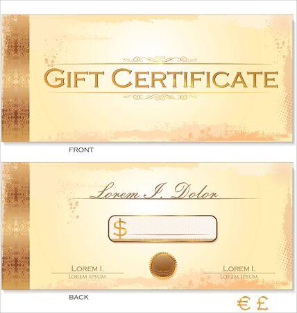 gift certificate: Premium Certificate Template Illustration