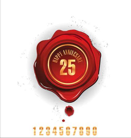 wax stamp: Anniversary year wax seal