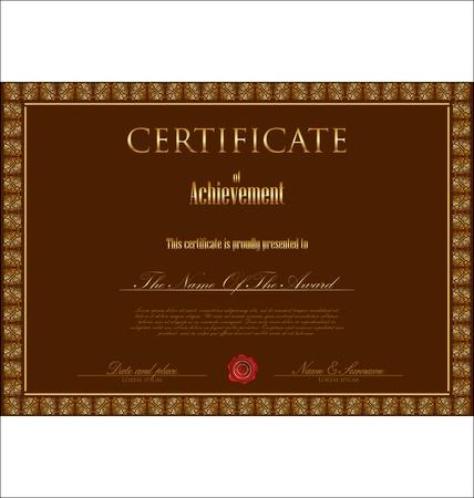 Certificate template Vector