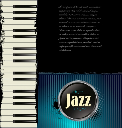 Jazz music background with piano Stock Vector - 19566564