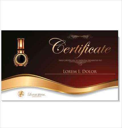 fondo de graduacion: Plantilla de certificado Vectores