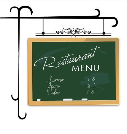 restaurant table: Restaurant menu