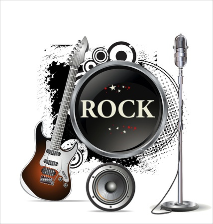 rock guitarist: Rock music background