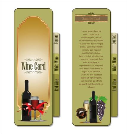 Wine card illustration Vector