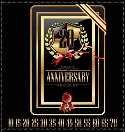 th: Anniversary golden label